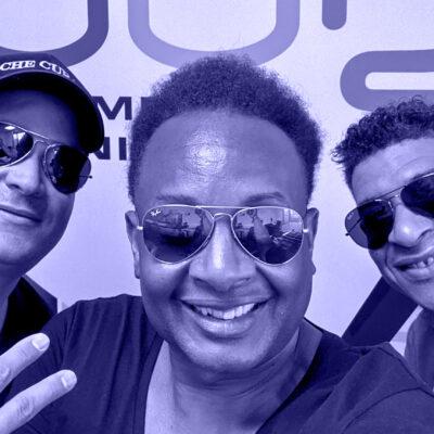 Ommis van Ache Cubano in de studio 1 augustus 2020